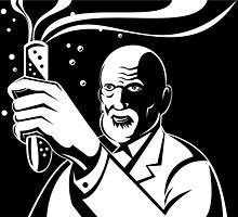 Crazy Mad Scientist Test Tube by patrimonio