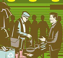 Flea Market Selling Trading Retro by patrimonio