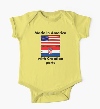 Made In America With Croatian Parts One Piece - Short Sleeve