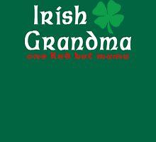 """Irish Grandma """"one red hot mama"""" Womens Fitted T-Shirt"""