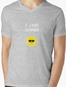 I LOVE SUMMER Mens V-Neck T-Shirt