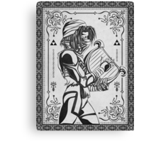 Legend of Zelda Shiek Princess Geek Line Artly  Canvas Print