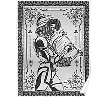 Legend of Zelda Shiek Princess Geek Line Artly  Poster