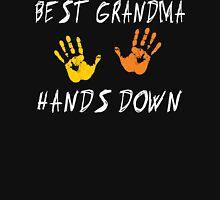 "Grandma ""Best Grandma Hands Down"" Womens Fitted T-Shirt"