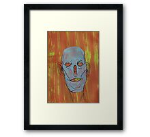 Blue and empty. Framed Print