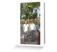 12 inch sunflower seed pod on stem Greeting Card