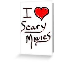 i love halloween scary movies  Greeting Card