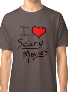 i love halloween scary movies  Classic T-Shirt