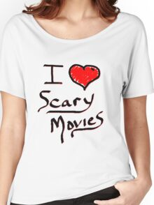 i love halloween scary movies  Women's Relaxed Fit T-Shirt