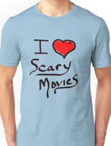 i love halloween scary movies  Unisex T-Shirt