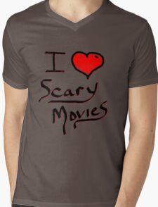 i love halloween scary movies  Mens V-Neck T-Shirt