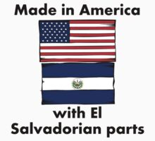 Made In America With El Salvadorian Parts One Piece - Short Sleeve