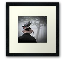 I always wear a bird on my head Framed Print