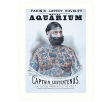 Captain Costentenus, tattoed from head to foot Art Print