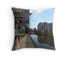 River Aire, Leeds Throw Pillow