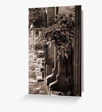 Cemetery of Montmartre Greeting Card