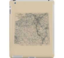 March 3 1945 World War II Twelfth Army Group Situation Map iPad Case/Skin