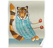 Tiger in Stripes Poster