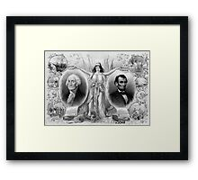 Washington and Lincoln Framed Print