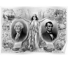 Washington and Lincoln Poster