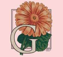 G is for Gerbera - patch One Piece - Long Sleeve