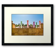 Colonnade In Beit She'an Israel Framed Print