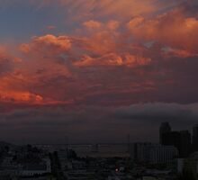 Golden Sky over San Francisco by fototaker