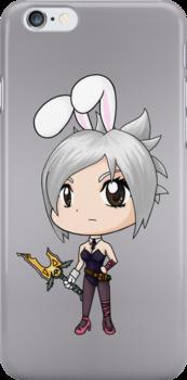 Chibi Battle Bunny Riven by RubyTruffles