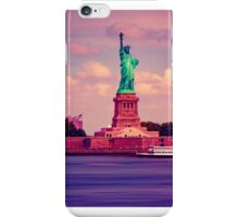 Sunset Over Miss Liberty iPhone Case/Skin