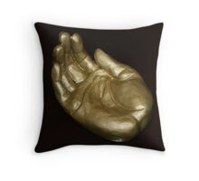 The Golden Hand Throw Pillow