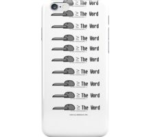Bird is Greater than or Equal to The Word iPhone Case/Skin