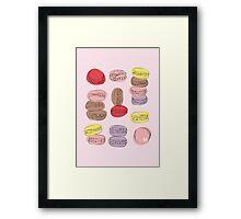 Macaron Amour Framed Print
