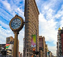 Flatiron On Blue Clouds by SharonYanai