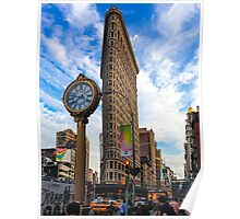 Flatiron On Blue Clouds Poster