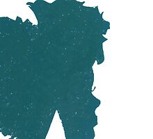 Afro Silhouette Case - TURQUOISE by jlynnart