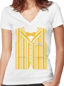 Dapper Dans Vest - Orange Women's Fitted V-Neck T-Shirt