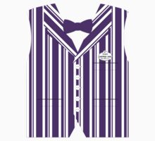 Dapper Dans Vest - Purple Kids Tee