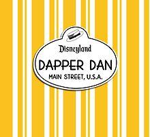 Dapper Dans Nametag - Orange by jdotcole
