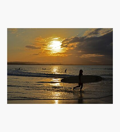 Sunset surfers Photographic Print