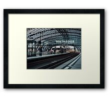 The train is coming Framed Print