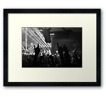 METAL MELBOURNE Framed Print