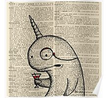 Narwhal with Monocle Poster