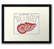 Red Wings sport detroit Framed Print