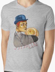 Snailapillar Mens V-Neck T-Shirt