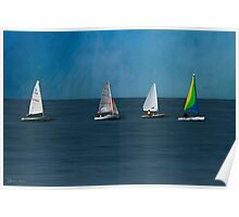 The Sailboats Poster