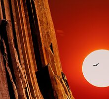 Sunset over Devils Tower .3 by Alex Preiss