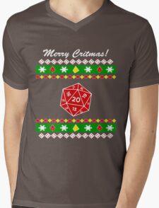 Merry Critmas! Ugly Christmas Sweater Mens V-Neck T-Shirt