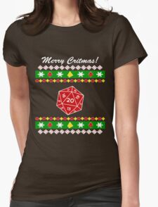 Merry Critmas! Ugly Christmas Sweater Womens Fitted T-Shirt