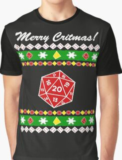 Merry Critmas! Ugly Christmas Sweater Graphic T-Shirt