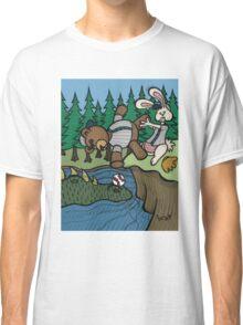 Teddy Bear And Bunny - The Baseball Classic T-Shirt